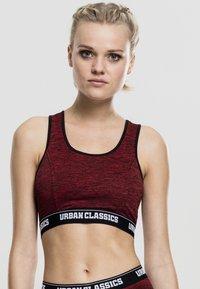 Urban Classics - ACTIVE - High support sports bra - red/black/black - 0