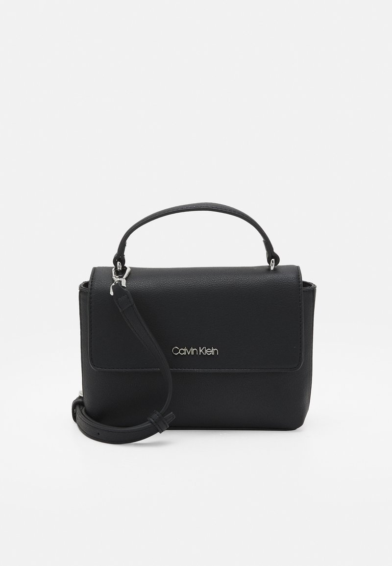 Calvin Klein - FLAP MINI BAG TOP HANDLE - Handbag - black