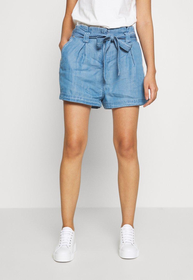 Superdry - DESERT PAPER BAG - Shorts - indigo light