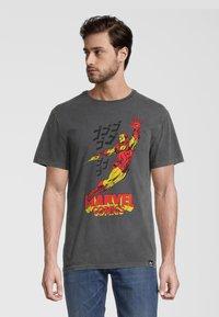 Re:Covered - MARVEL COMICS IRON MAN  - T-shirt print - grau - 0