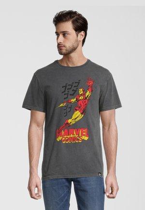 MARVEL COMICS IRON MAN  - T-shirt print - grau