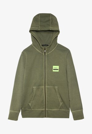 LUCAS - Zip-up hoodie - winter moss