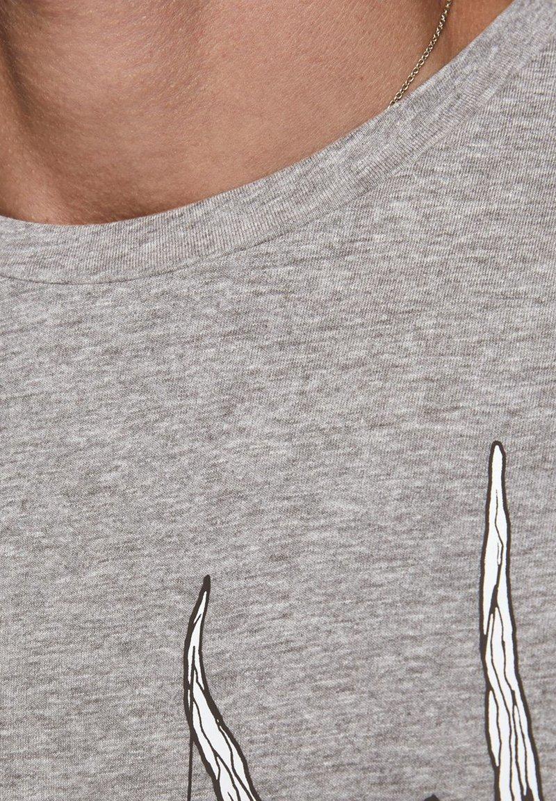 Jack & Jones T-Shirt print - light grey melange/hellgrau YIq3FM