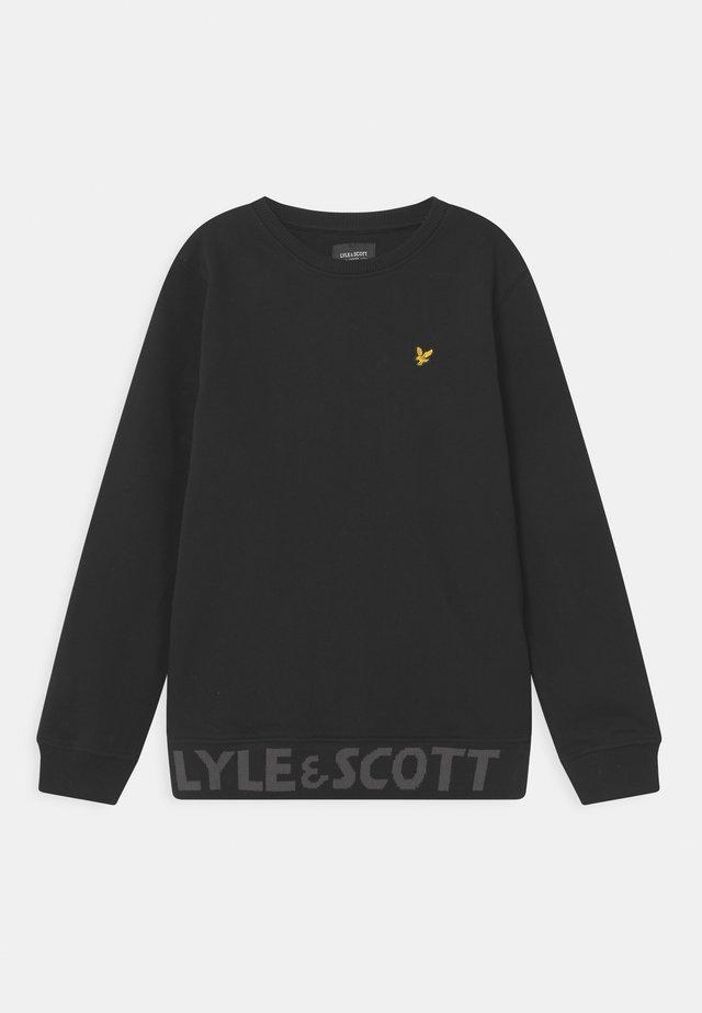 BOTTOM BRANDED CREW NECK - Sweatshirt - black