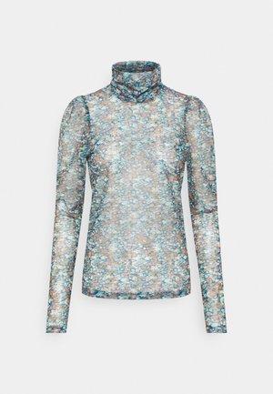 VMLULU HIGH NECK - Bluzka z długim rękawem - mykonos blue/lulu