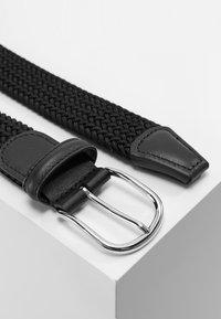 Anderson's - BELT UNISEX - Braided belt - black - 2