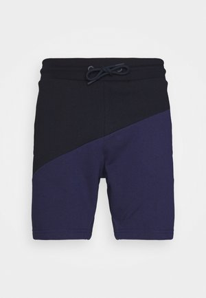 BLOCKED TERRY SHORT - Short de sport - blue