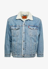 Levi's® Plus - BIG SHERPA TRUCKER - Jeansjakke - blue denim - 4