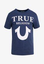 CREW LOGO - Camiseta estampada - dark blue