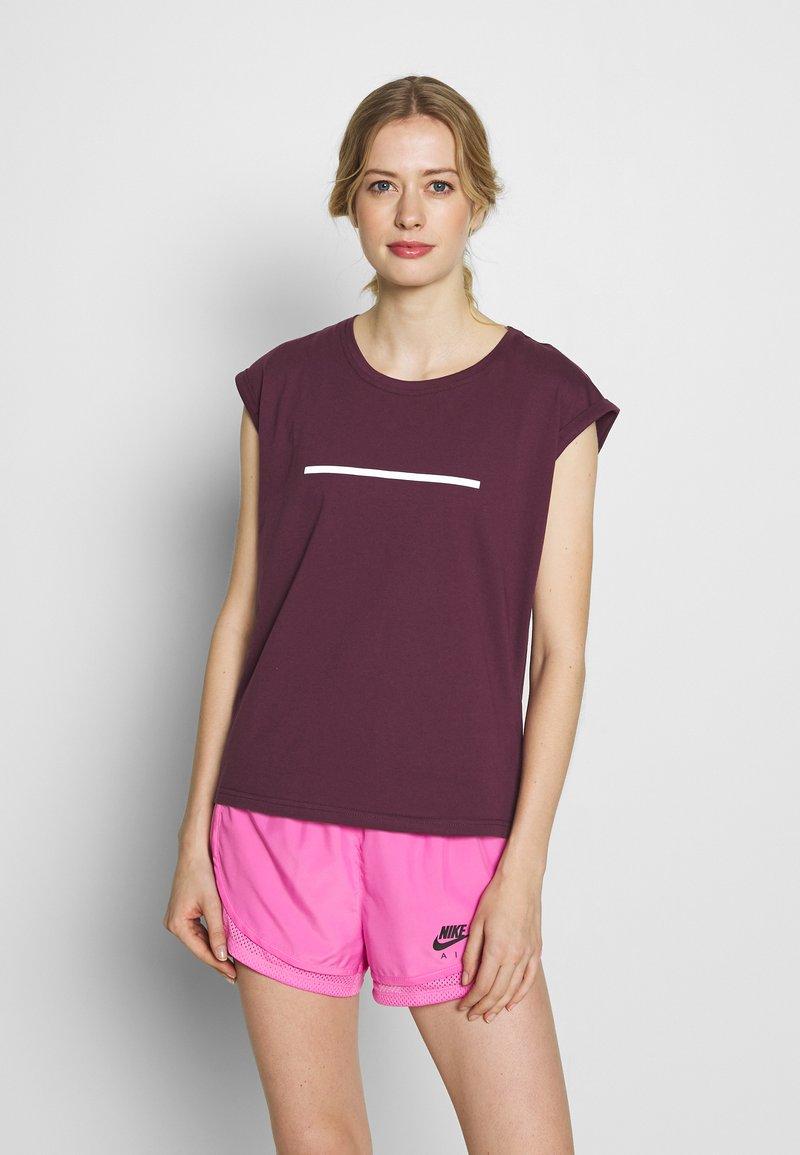 Even&Odd active - T-shirt med print - dark red