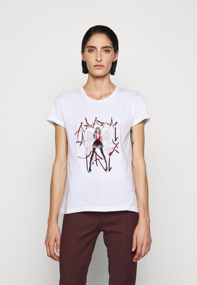 GITARRE - T-shirt z nadrukiem - bianco