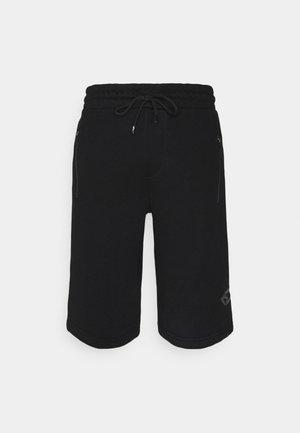 SHORTS - Pantalón corto de deporte - schwarz/bordo