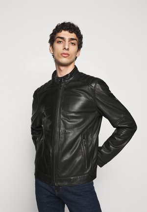 PEEL - Leather jacket - black