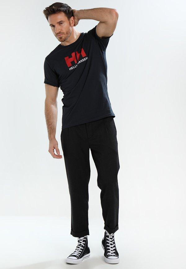 Helly Hansen LOGO - T-shirt z nadrukiem - navy/granatowy Odzież Męska GYKJ