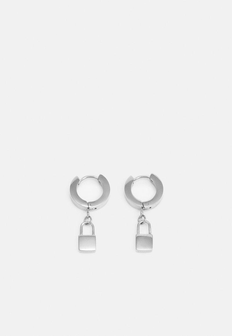 Nialaya - PADLOCK EARRINGS UNISEX - Kolczyki - silver