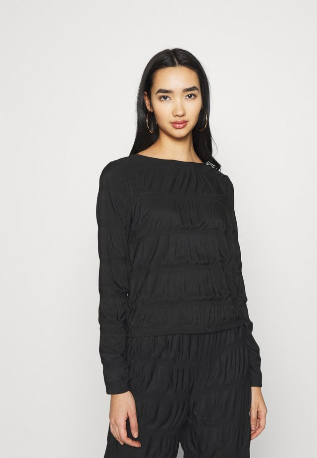 PCBIBBI SMOCK  - T-shirt à manches longues - black