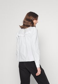 ONLY - ONLNANCY  EMBRODERY - Button-down blouse - cloud dancer - 2