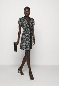 Pinko - ARRICCHITO ABITO BROCCATO - Day dress - black - 1