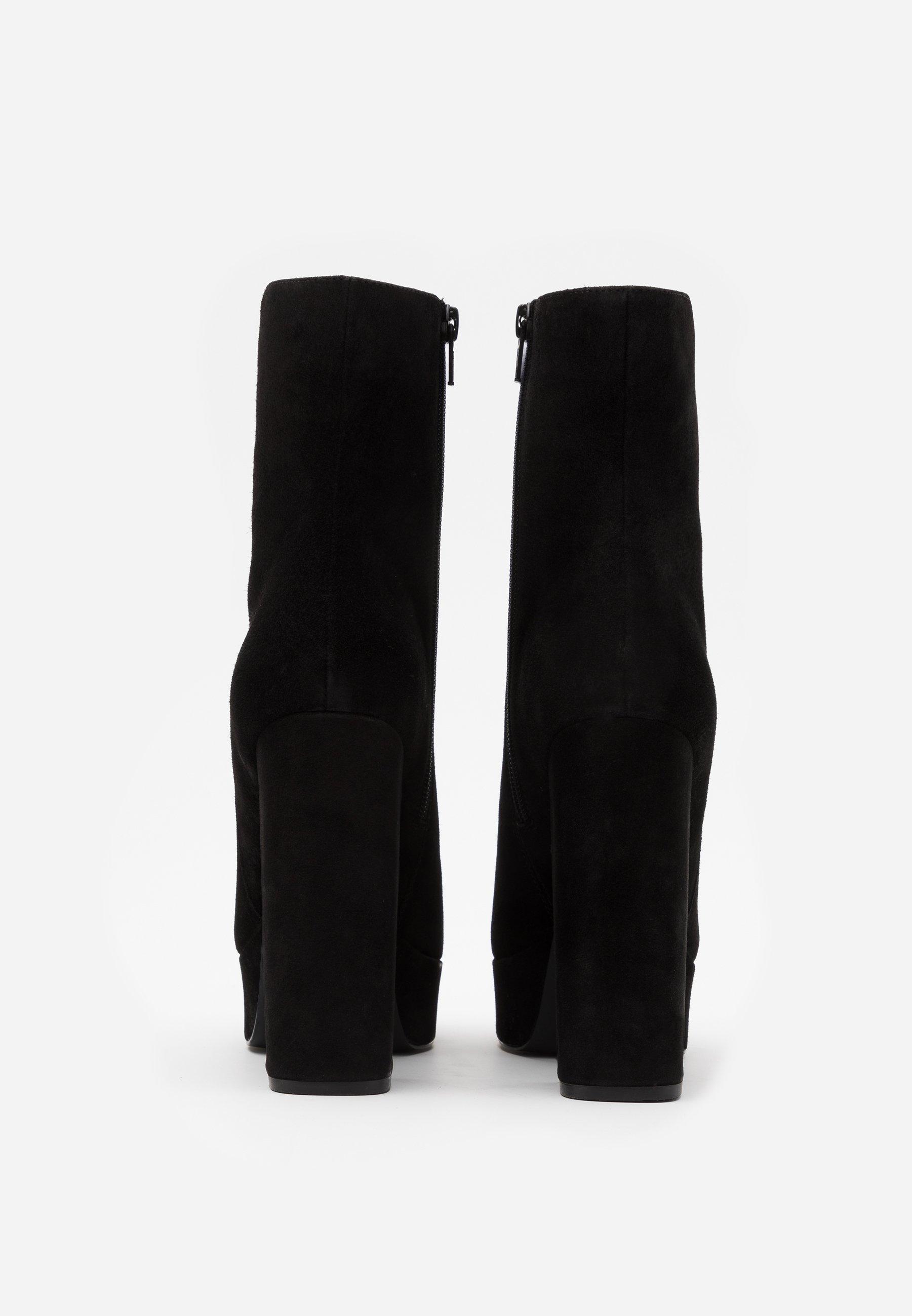 Even&odd Leather - Højhælede Støvletter Black