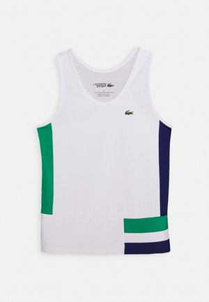 TENNIS TANK - Sports shirt - white/cosmic greenfinch/black