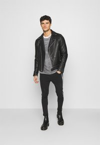 Brave Soul - REFLECT - Jeans Skinny Fit - charcoal wash - 1