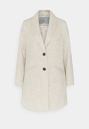 MINIMAL SHAWL COLLAR COAT - Classic coat - light grey