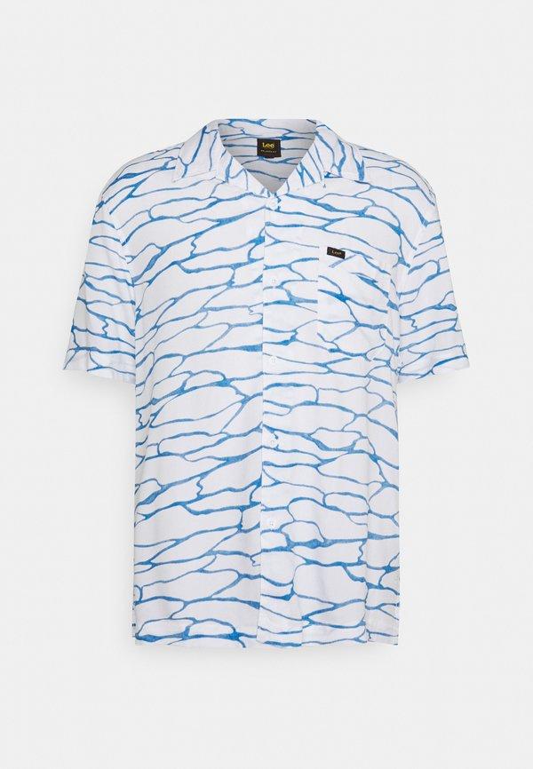 Lee RESORT - Koszula - white canvas/niebieski Odzież Męska UTBH