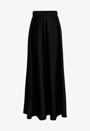 TRUE VIOLET LABEL PUFF SKIRT - Maxi skirt - black