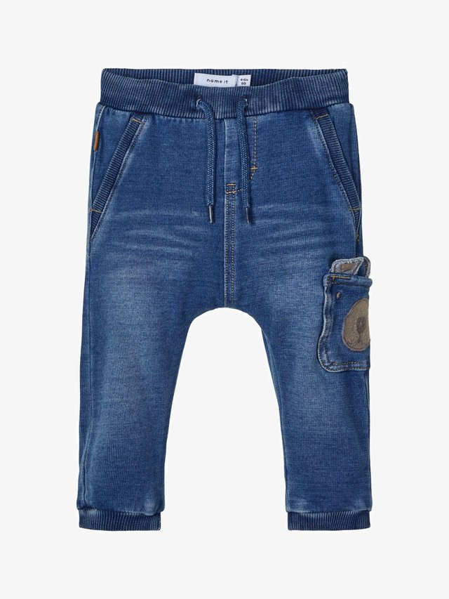 NBMBOB BABY - Pantalon classique - medium blue denim