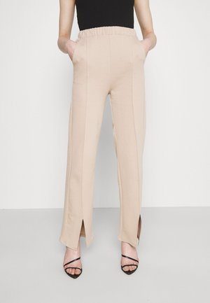 KLARA TROUSERS - Trousers - oxford tan