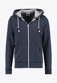 Tommy Jeans - ORIGINAL ZIPTHRU - Zip-up hoodie - black iris - 4