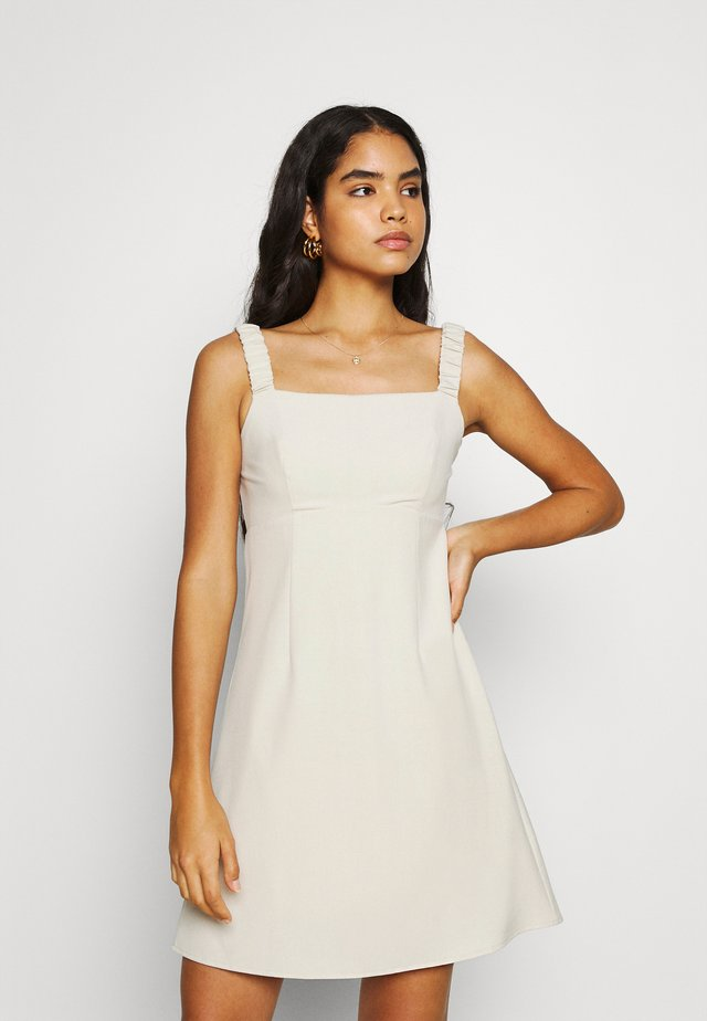 SPIN DRESS - Korte jurk - cream