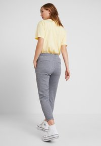 ICHI - KATE STRIPY TROUSERS - Trousers - total eclipse - 2