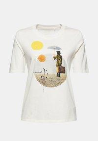 Esprit - Print T-shirt - off white - 9