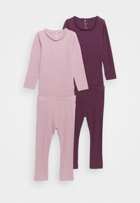 Name it - NBFROSEMARIE SET 2 PACK - Leggings - Trousers - italian plum/deauville mauve - 0