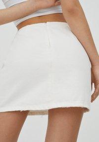 PULL&BEAR - A-line skirt - white - 4