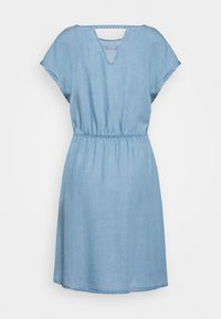 TOM TAILOR DENIM - CHAMBRAY DRESS - Jersey dress - light stone/bright blue denim - 1