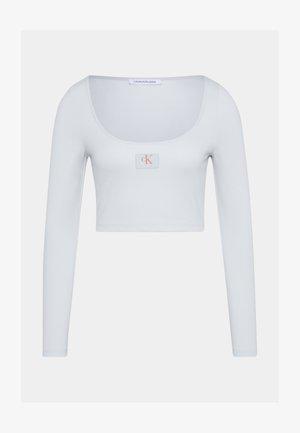 SCOOP NECK TEE - Long sleeved top - stone grey