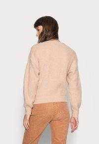 Esqualo - CARDIGAN WRAP AROUND - Vest - beige - 2