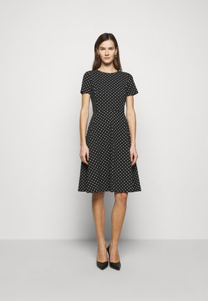 PRINTED TECH DRESS - Day dress - black