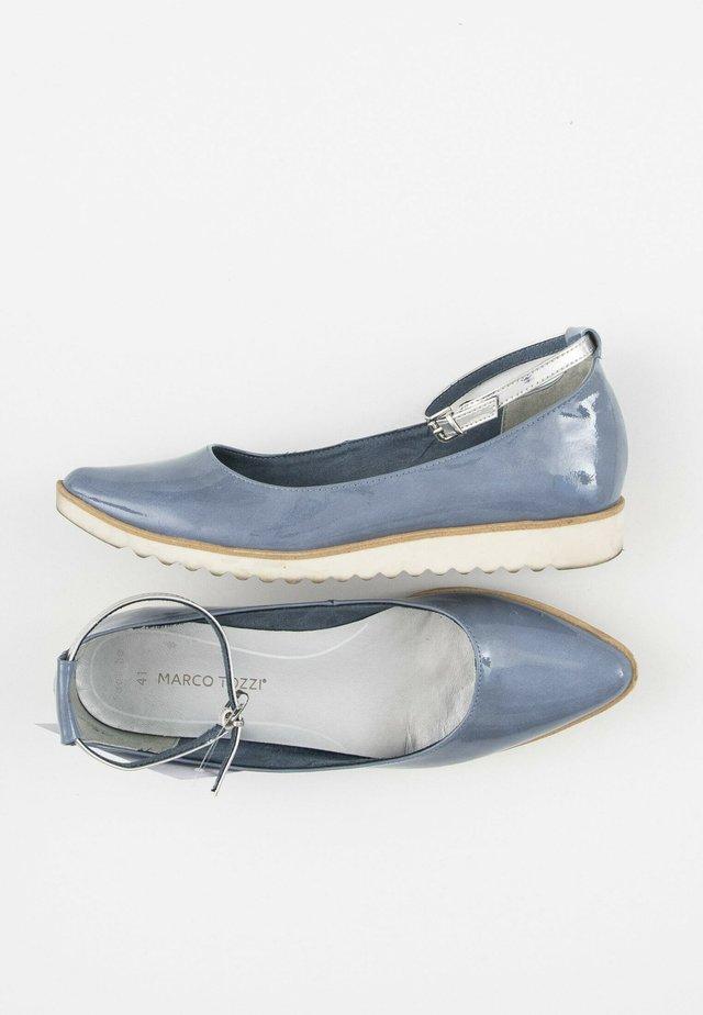 Ballerina's met enkelbandjes - blue