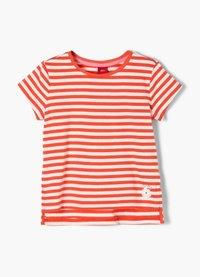s.Oliver - Print T-shirt - orange stripes - 2