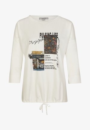 Long sleeved top - offwhite photoprint collage