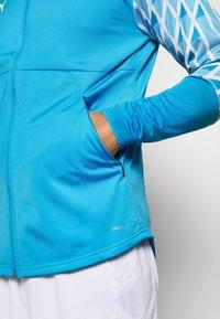 Puma - OLYMPIQUE MARSAILLE STADIUM JACKET - Club wear - bleu azur/puma white - 4