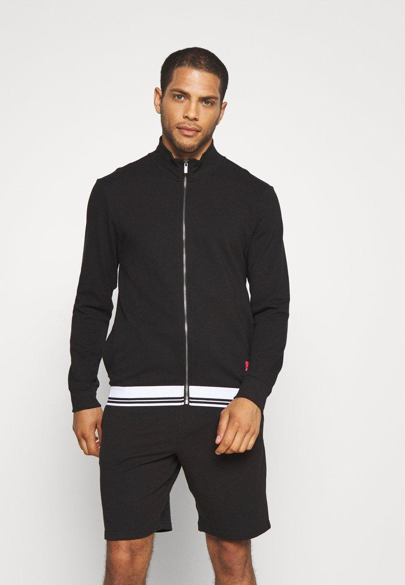 Calvin Klein Underwear - FULL ZIP - Felpa aperta - black