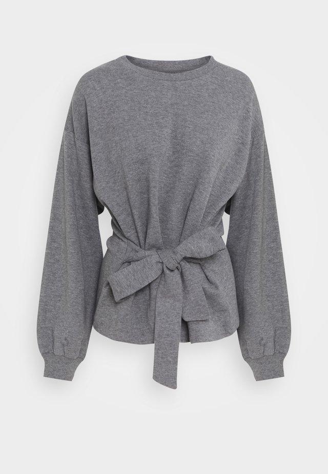 WILMA TIEBELT - Bluza - dark grey melange