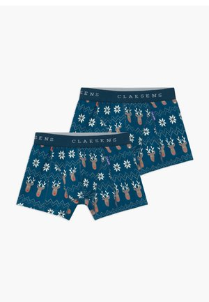 BOYS 2 PACK - Pants - royal blue/white