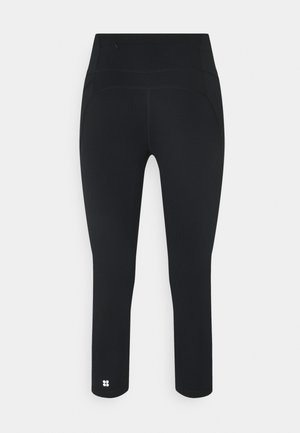 POWER CROP WORKOUT LEGGINGS - Leggings - black