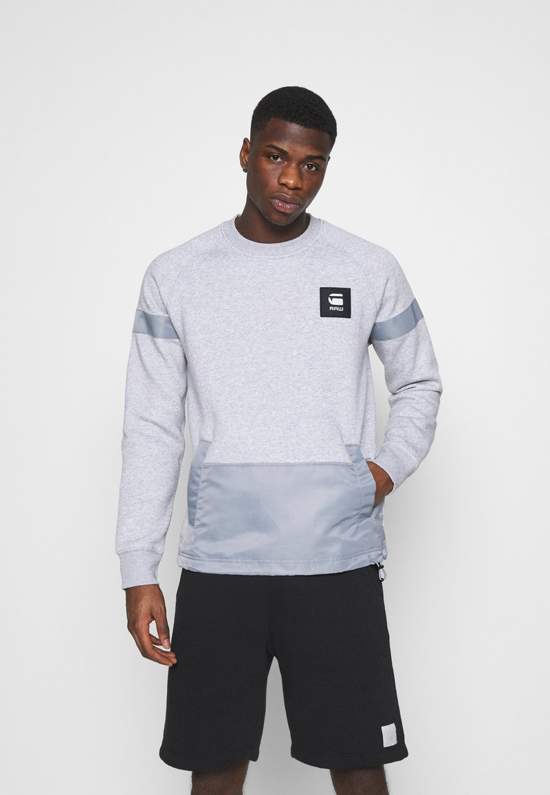 G-Star - PRISONER MIX R SW L\S - Sweatshirt - ashor grey htr