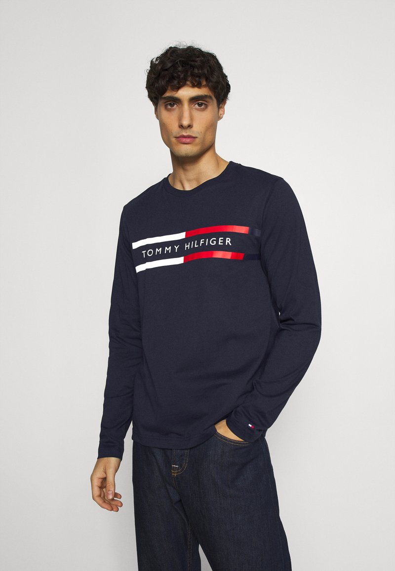 Tommy Hilfiger - CHEST STRIPE - Long sleeved top - blue